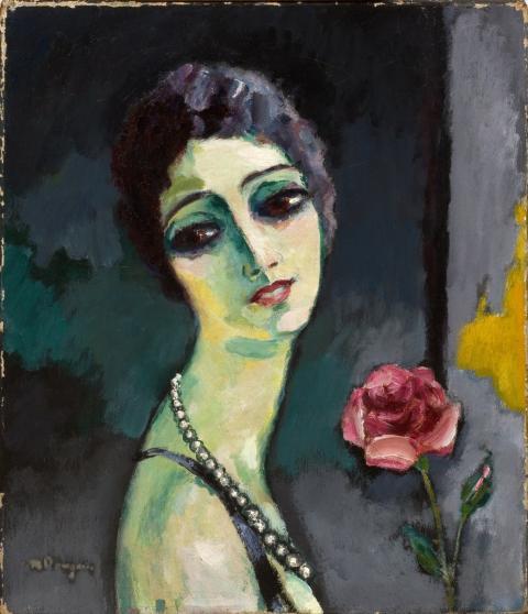 van dongen femme au collier
