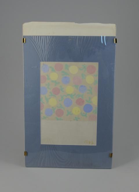 1b6ef2a6e9f Sonia DELAUNAY (1885-1979).Fleurs stylisées. Gouache.20 x 20