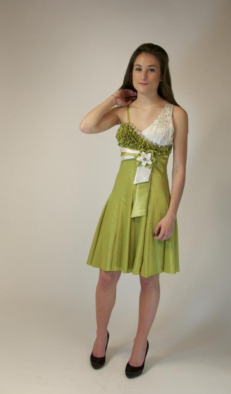 Robe de soiree vert anis