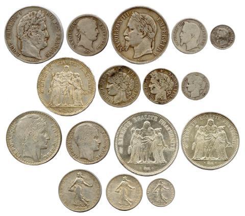 piece de monnaie recouverte d'argent 6 lettres