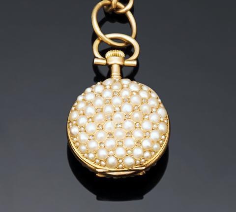 d1de1a7cb87e MONTRE de COL en or jaune 750 millièmes, le fond.