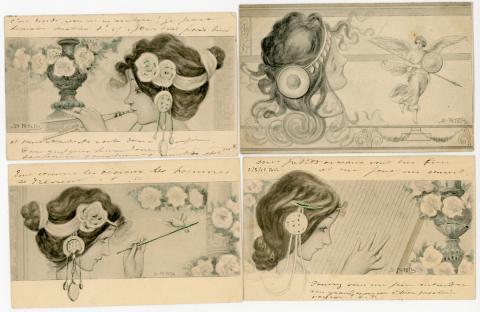 7f00f43c192bee  ILLUSTRATEUR  14 cartes postales illustrées par Raphaël KIRCHNER. Non  signées.