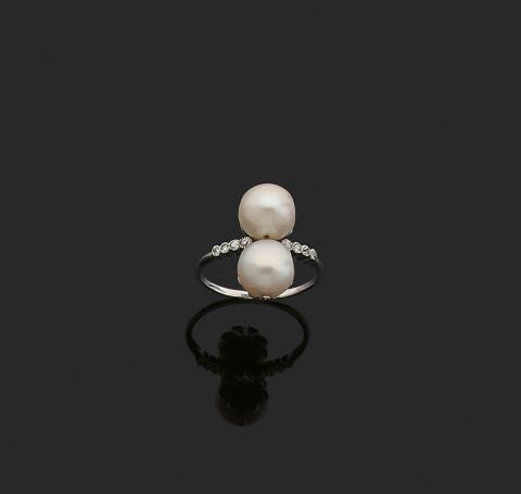 Mid Index Bagues Femmes Bijoux Beach Pearl Ring Set Fleur Couronne sculptée