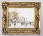 Eugène GALIEN-LALOUE (Paris, 1854 - Chérence, 1941)Paris, la place Saint-Michel.Aquarelle...